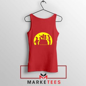 Doh Zombies Simpsons Red Tank Top