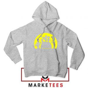 Doh Zombies Simpsons Sport Grey Hoodie
