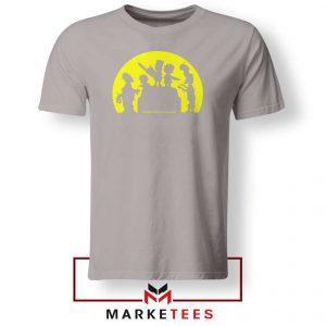 Doh Zombies Simpsons Sport Grey Tshirt