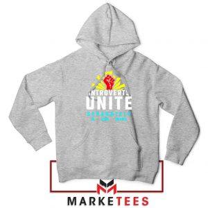 Introverts Unite Separately Sport Grey Hoodie