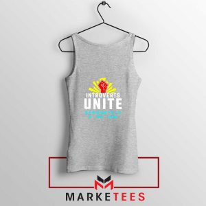 Introverts Unite Separately Sport Grey Tank Top