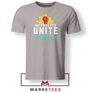 Introverts Unite Separately Sport Grey Tshirt