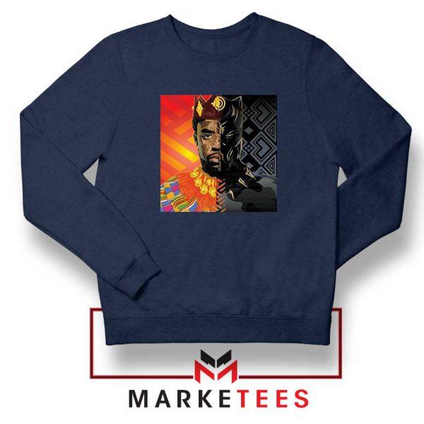 Man Of Wakanda Navy Blue Sweatshirt