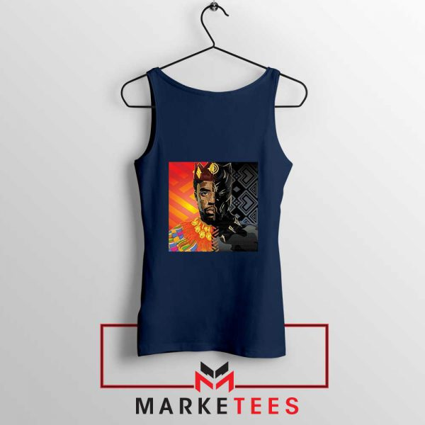 Man Of Wakanda Navy Blue Tank Top