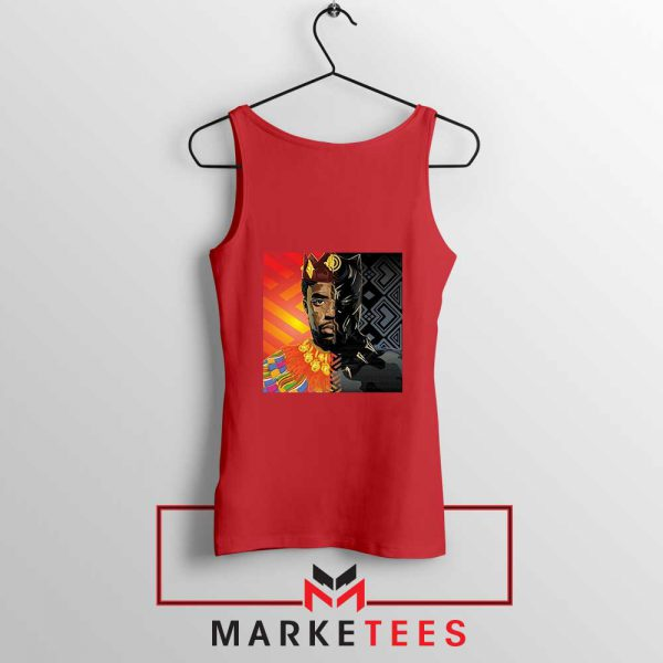 Man Of Wakanda Red Tank Top