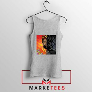 Man Of Wakanda Sport Grey Tank Top