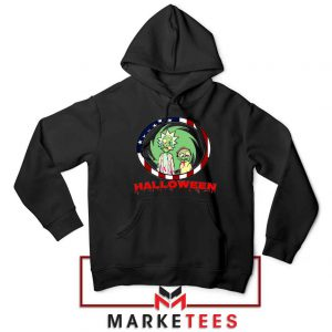 Morty Halloween Black Hoodie