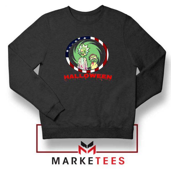 Morty Halloween Black Sweatshirt
