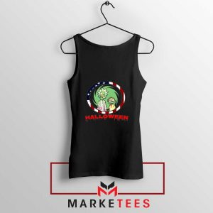 Morty Halloween Black Tank Top
