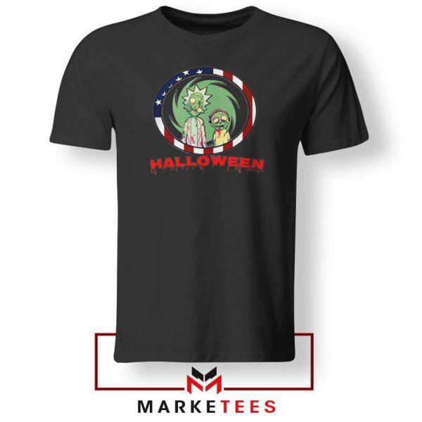Morty Halloween Black Tshirt
