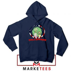 Morty Halloween Navy Blue Hoodie