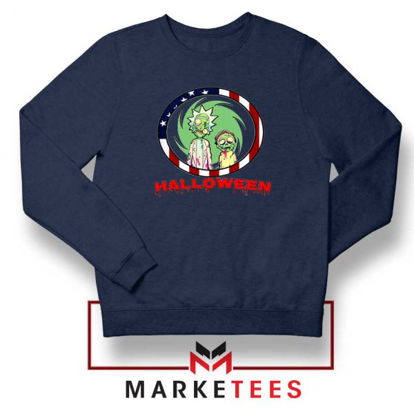 Morty Halloween Navy Blue Sweatshirt