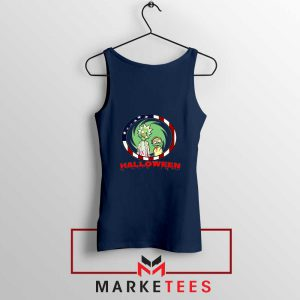 Morty Halloween Navy Blue Tank Top