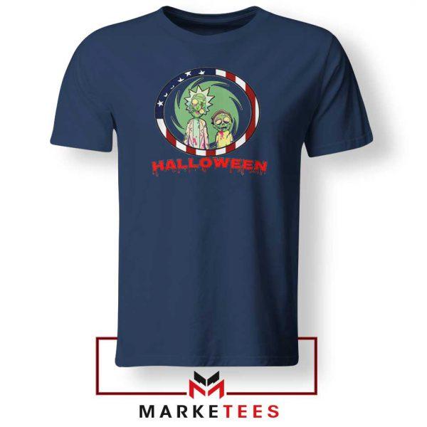 Morty Halloween Navy Blue Tshirt
