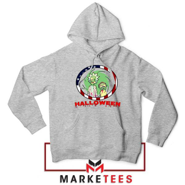 Morty Halloween Sport Grey Hoodie