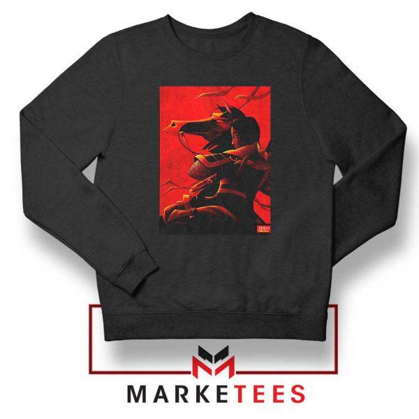 Mulan Desgin Poster Black Sweatshirt