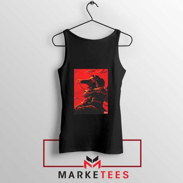 Mulan Desgin Poster Black Tank Top