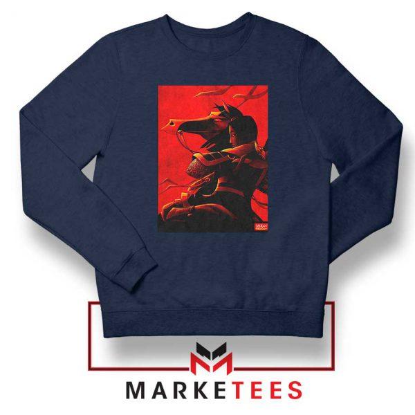 Mulan Desgin Poster Navy Blue Sweatshirt