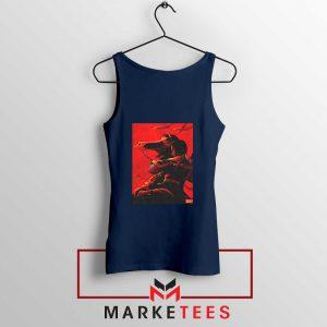 Mulan Desgin Poster Navy Blue Tank Top