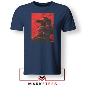 Mulan Desgin Poster Navy Blue Tshirt