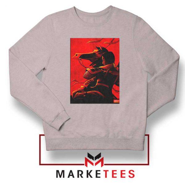 Mulan Desgin Poster Sport Grey Sweatshirt