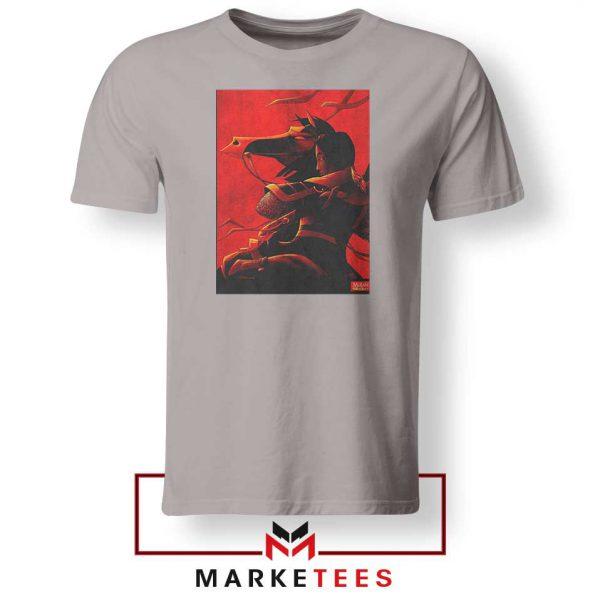 Mulan Desgin Poster Sport Grey Tshirt