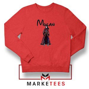 Mulan Princess Red Sweatshirt