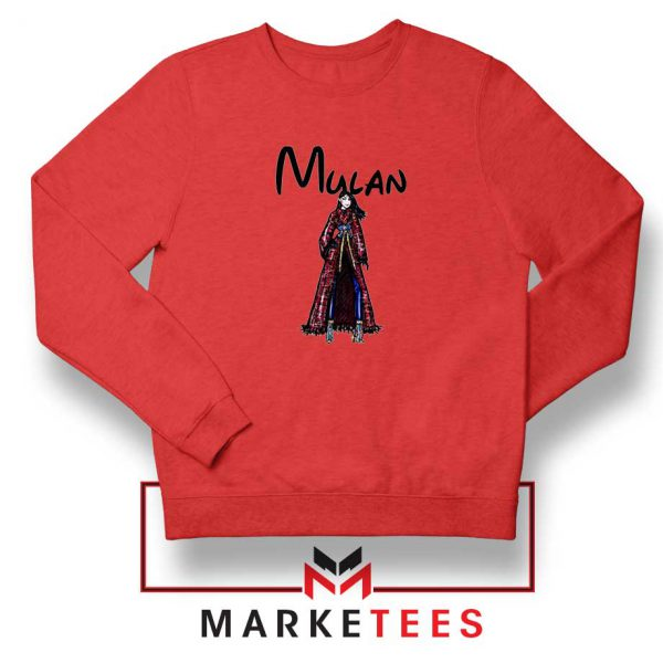 Mulan Princess Red Sweatshirt