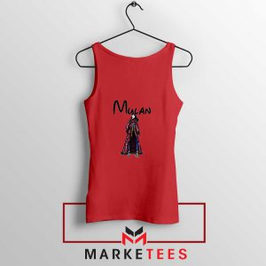 Mulan Princess Red Tank Top