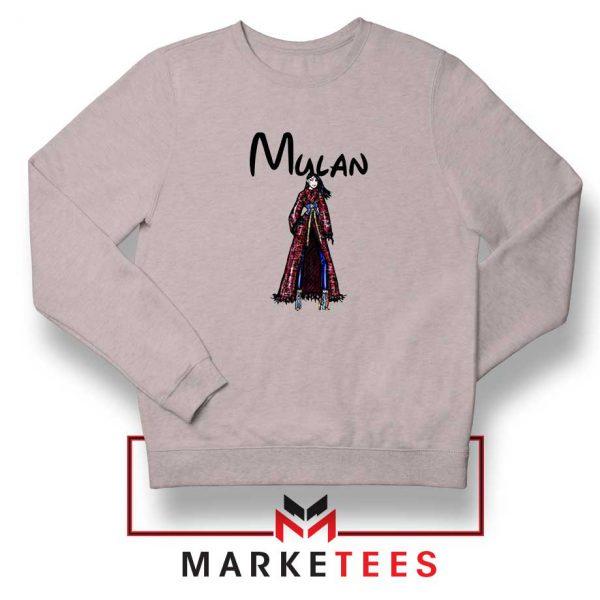 Mulan Princess Sport Grey Sweatshirt