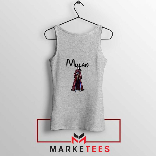 Mulan Princess Sport Grey Tank Top