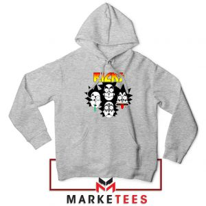 Rick And Morty Parody Of Kiss Sport Grey Hoodie