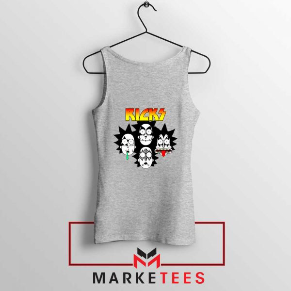 Rick And Morty Parody Of Kiss Sport Grey Tank Top