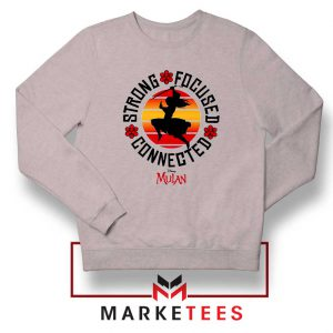 Strong Focused Connected Sport Grey Sweatshirt