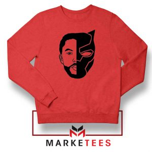 TChalla Face Silhouette Red Sweatshirt