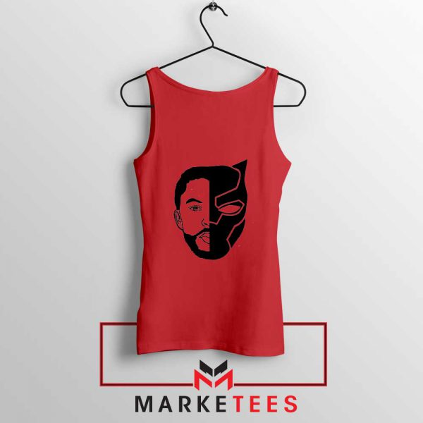 TChalla Face Silhouette Red Tank Top