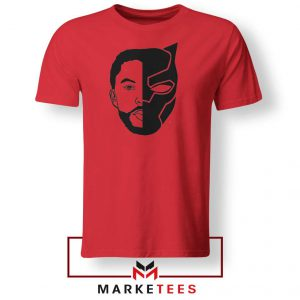 TChalla Face Silhouette Red Tshirt