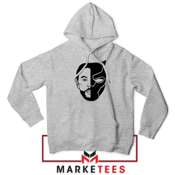 TChalla Face Silhouette Sport Grey Hoodie
