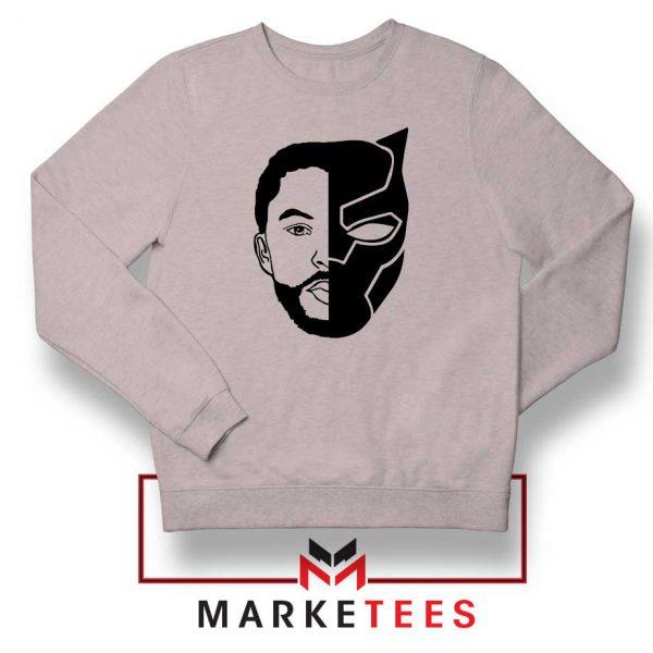 TChalla Face Silhouette Sport Grey Sweatshirt