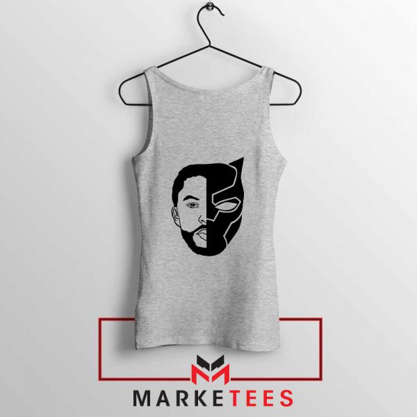 TChalla Face Silhouette Sport Grey Tank Top