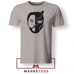 TChalla Face Silhouette Sport Grey Tshirt