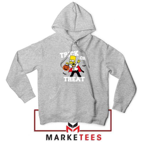 Trick Or Treat Bart Sport Grey Hoodie
