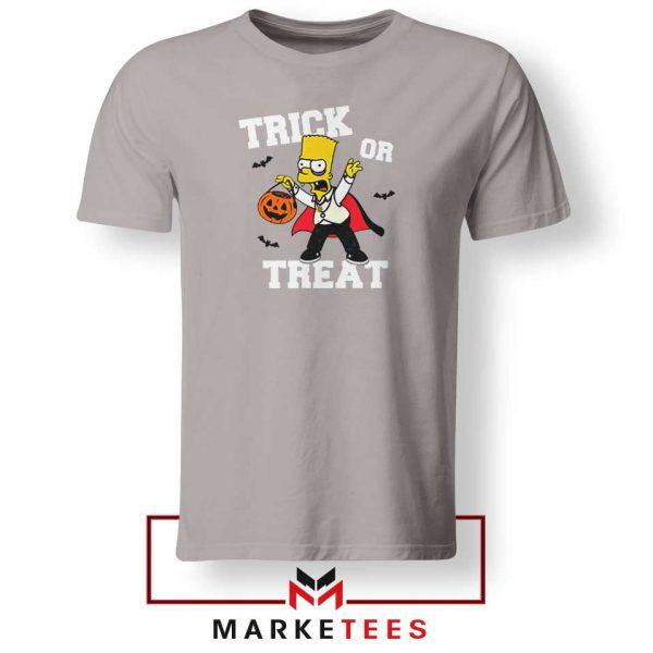 Trick Or Treat Bart Sport Grey Tshirt