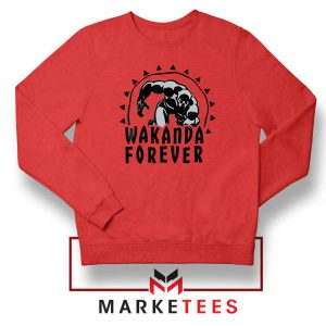 Wakanda Forever Movie Red Sweatshirt