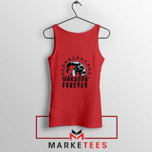 Wakanda Forever Movie Red Tank Top