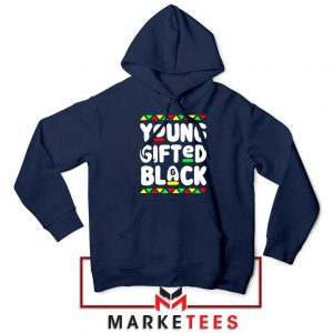 Young Gifted And Black Navy Blue Sweatshirt