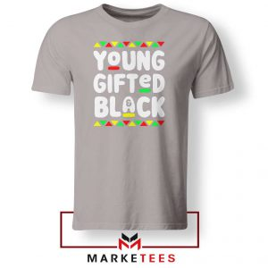 Young Gifted And Black Sport Grey Tshirt