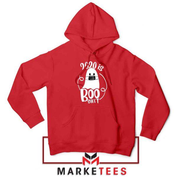2020 Is Boo Sheet red Hoodie