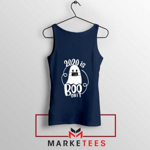 2020 Is Boo navy blue Sheet Tank Top Best Funny