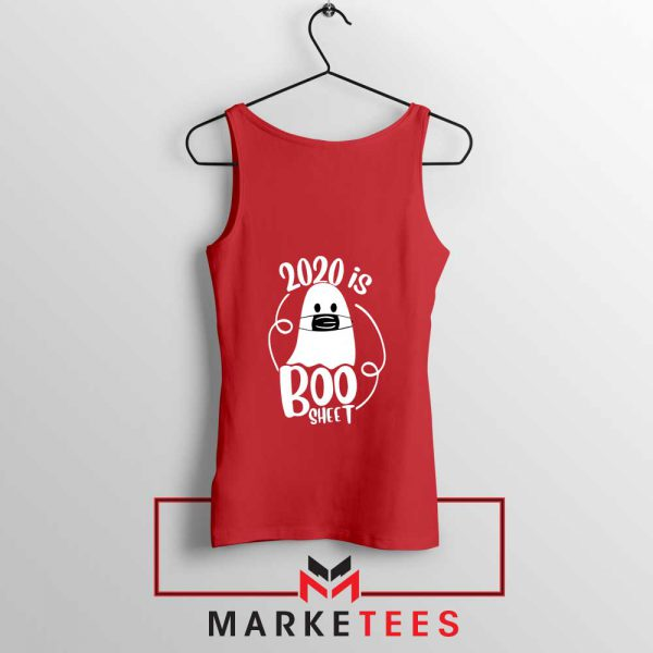 2020 Is Boo red Sheet Tank Top Best Funny
